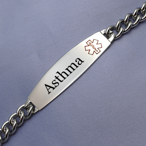 316L Surgical Stainless Asthma Medical Bracelet